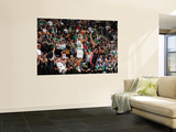 Miami Heat v Boston Celtics - Game Four, Boston, MA - MAY 9: Ray Allen and James Jones Wall Mural by Brian Babineau