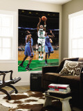 Oklahoma City Thunder v Boston Celtics: Paul Pierce and James Harden Wall Mural by Brian Babineau