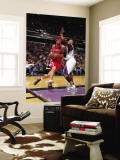 Houston Rockets v Sacramento Kings: Brad Miller and Carl Landry Wall Mural by Rocky Widner