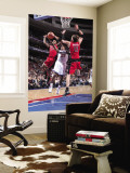 Toronto Raptors v Philadelphia 76ers: Lou Williams, Sonny Weems and David Andersen Wall Mural by David Dow