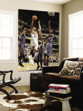 Charlotte Bobcats v Indiana Pacers: Danny Granger and Kwame Brown Wall Mural by Ron Hoskins