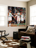 Miami Heat v Boston Celtics - Game Four, Boston, MA - MAY 9: Ray Allen, Paul Pierce and Kevin Garne Wall Mural by Brian Babineau