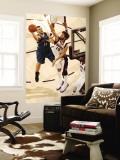 Minnesota Timberwolves v Phoenix Suns: Robin Lopez and Nikola Pekovic Wall Mural by Barry Gossage