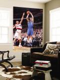 Dallas Mavericks v Portland Trail Blazers - Game Three, Portland, OR - APRIL 21: Peja Stojakovic an Wall Mural by Sam Forencich
