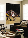Los Angeles Lakers v Detroit Pistons: Greg Monroe and Derrick Caracter Wall Mural by Allen Einstein
