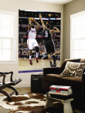 San Antonio Spurs v Los Angeles Clippers: Baron Davis and George Hill Wall Mural by Harry How