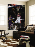 Los Angeles Lakers v Detroit Pistons: Rodney Stuckey and Kobe Bryant Wall Mural by Allen Einstein