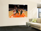 Boston Celtics v New York Knicks - Game Three, New York, NY - APRIL 22: Rajon Rondo and Jared Jeffr Wall Mural by Nick Laham