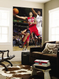 New Jersey Nets v Sacramento Kings: Devin Harris and Carl Landry Wall Mural by Don Smith