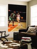 Boston Celtics v New York Knicks: Amar'e Stoudemire and Kevin Garnett Wall Mural by Lou Capozzola
