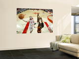 Cleveland Cavaliers v Houston Rockets: Jawad Williams and Brad Miller Wall Mural by Bill Baptist