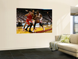 Chicago Bulls v Miami Heat - Game ThreeMiami, FL - MAY 22: Derrick Rose and Dwyane Wade Wall Mural by Marc Serota