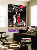 Houston Rockets v Sacramento Kings: Chase Budinger and Omri Casspi Wall Mural by Rocky Widner