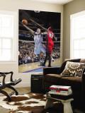 New Jersey Nets v Dallas Mavericks: Jose Juan Barea and Anthony Morrow Wall Mural by Glenn James