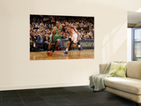 Boston Celtics v New York Knicks: Ray Allen and Wilson Chandler Wall Mural by Lou Capozzola
