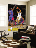 Detroit Pistons v Golden State Warriors: Ben Wallace and Jeremy Lin Wall Mural by Rocky Widner
