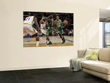 Boston Celtics v Cleveland Cavaliers: Paul Pierce, Joey Graham and Kevin Garnett Wall Mural by David Liam Kyle