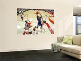 Sacramento Kings v Houston Rockets: Jason Thompson and Luis Scola Wall Mural by Bill Baptist
