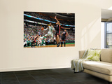Miami Heat v Boston Celtics - Game Four, Boston, MA - MAY 9: Rajon Rondo and Zydrunas Ilgauskas Wall Mural by Brian Babineau