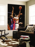 Detroit Pistons v Miami Heat: Chris Bosh and Greg Monroe Wall Mural by Issac Baldizon