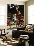 Cleveland Cavaliers  v Indiana Pacers: Darren Collison and Jamario Moon Wall Mural by Ron Hoskins