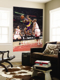 Los Angeles Lakers v Chicago Bulls: Kobe Bryant, Derrick Rose and Keith Bogans Wall Mural by Andrew Bernstein