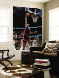 Miami Heat v Washington Wizards: LeBron James and Cartier Martin Wall Mural by Greg Fiume