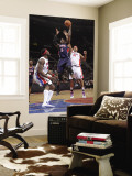 Atlanta Hawks v Detroit Pistons: Josh Smith, Ben Wallace and Charlie Villanueva Wall Mural by Allen Einstein