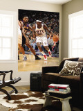 Los Angeles Lakers v New Jersey Nets: Anthony Morrow and Ron Artest Wall Mural by Andrew Bernstein