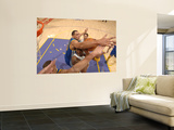 Golden State Warriors v Los Angeles Lakers: Kobe Bryant and Dan Gadzuric Wall Mural by Noah Graham
