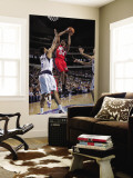 New Jersey Nets v Dallas Mavericks: Devin Harris and Tyson Chandler Wall Mural by Glenn James