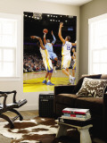 Denver Nuggets v Golden State Warriors: Carmelo Anthony andris Biedrins and Dorell Wright Wall Mural by Rocky Widner