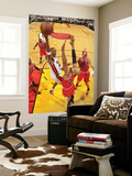Chicago Bulls v Miami Heat - Game ThreeMiami, FL - MAY 22: Chris Bosh, Taj Gibson Wall Mural by Victor Baldizon