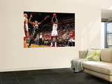 Indiana Pacers v Miami Heat: LeBron James and Danny Granger Wall Mural by Victor Baldizon