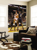 Indiana Pacers v Miami Heat: Carlos Arroyo and Roy Hibbert Wall Mural by Mike Ehrmann