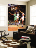 Boston Celtics v New York Knicks: Amar'e Stoudemire and Ray Allen Wall Mural by Lou Capozzola