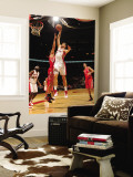 Houston Rockets v Toronto Raptors: Andrea Bargnani and Brad Miller Wall Mural by Ron Turenne