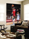 New Jersey Nets v Denver Nuggets: Terrence Williams and Chauncey Billups Wall Mural by Garrett Ellwood