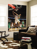 Boston Celtics v Charlotte Bobcats: Semih Erden and Kwame Brown Wall Mural by Kent Smith
