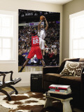 New Jersey Nets v Dallas Mavericks: Dirk Nowitzki and Anthony Morrow Wall Mural by Danny Bollinger