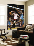 New Orleans Hornets v Miami Heat: Dwyane Wade and Emeka Okafor Wall Mural by Mike Unknown