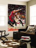 Miami Heat v Chicago Bulls - Game Two, Chicago, IL - MAY 18: Derrick Rose and Mike Bibby Wall Mural by Gregory Shamus