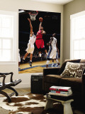 Philadelphia 76ers v Washington Wizards: Marreese Speights and JaVale McGee Wall Mural by Ned Dishman