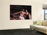 Indiana Pacers v Chicago Bulls - Game Two, Chicago, IL- April 18: Carlos Boozer and Tyler Hansbroug Wall Mural