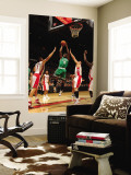 Boston Celtics v Toronto Raptors: Marquis Daniels andrea Bargnani and Linas Kleiza Wall Mural by Ron Turenne