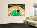 Miami Heat v Boston Celtics - Game Four, Boston, MA - MAY 9: LeBron James and Rajon Rondo Wall Mural by Brian Babineau