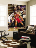New Jersey Nets v Sacramento Kings: Brook Lopez and Samuel Dalembert Wall Mural by Don Smith