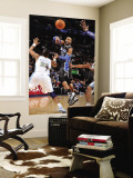 Orlando Magic v Denver Nuggets: Vince Carter and Shelden Williams Wall Mural by Garrett Ellwood