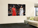 Los Angeles Clippers v Denver Nuggets: Baron Davis and Carmelo Anthony Wall Mural by Garrett Ellwood