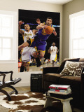 Golden State Warriors v Los Angeles Lakers: Vladimir Radmanovic and Matt Barnes Wall Mural by Noah Graham